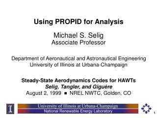 Using PROPID for Analysis