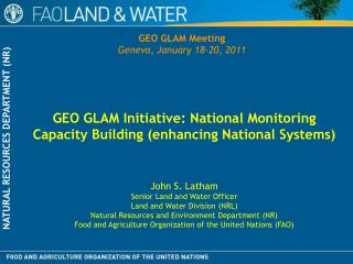 GEO GLAM Initiative: National Monitoring Capacity Building (enhancing National Systems)