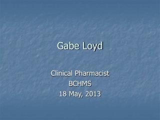 Gabe Loyd