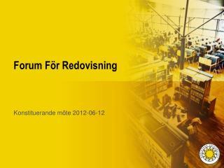 Forum För Redovisning