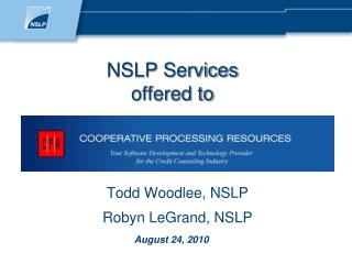 NSLP Services offered to