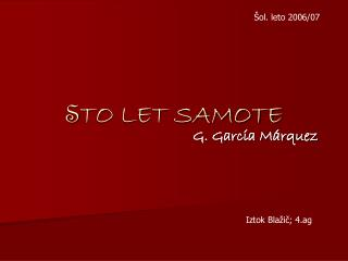 S TO LET SAMOTE