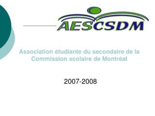 Association étudiante du secondaire de la Commission scolaire de Montréal