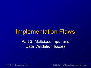 Implementation Flaws