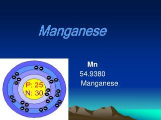 Mn 54.9380        Manganese