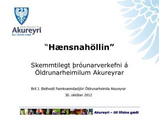 """"""" Hænsnahöllin"""" Skemmtilegt þróunarverkefni á Öldrunarheimilum Akureyrar"""