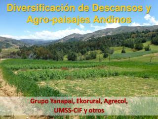 Grupo Yanapai, Ekorural, Agrecol,  UMSS-CIF y otros