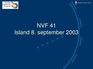 NVF 41  Island 8. september 2003