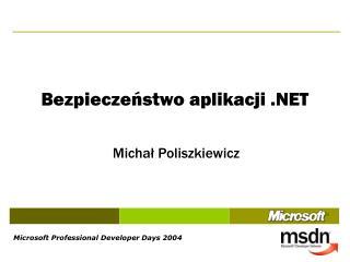 Bezpieczeństwo aplikacji .NET