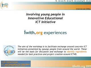 Involving young people in Innovative Educational  ICT Initiative