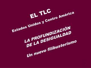 EL TLC Estados Unidos y Centro América LA PROFUNDIZACIÓN  DE LA DESIGUALDAD