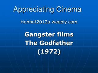 Appreciating Cinema