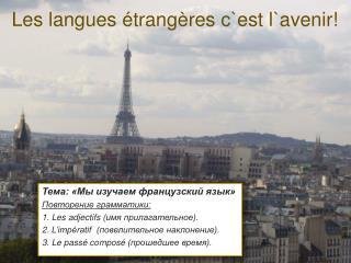 Les langues  étrangères  c`est l`avenir!