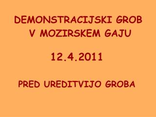 DEMONSTRACIJSKI GROB  V MOZIRSKEM GAJU