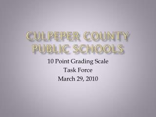 Culpeper County Public Schools