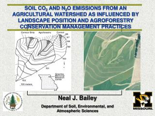 SOIL CO2 AND N2O EMISSIONS FROM AN AGRICULTURAL WATERSHED AS INFLUENCED BY LANDSCAPE POSITION AND AGROFORESTRY CONSERVAT