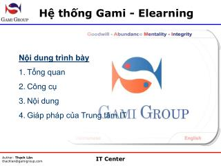 Hệ thống Gami - Elearning