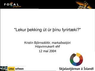 """""""Lekur þekking út úr þínu fyrirtæki?"""""""