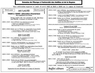 Semaine de l'Europe à l'université des Antilles et de la Guyane