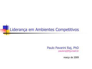 Liderança em Ambientes Competitivos