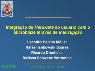 Integração de  Hardware  do usuário  com o  Microblaze através de  Interrupção