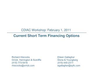 CDIAC Workshop: February 1, 2011