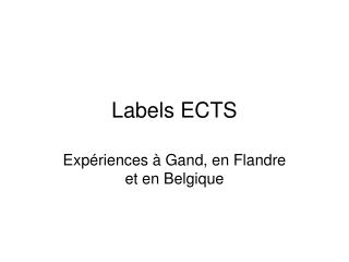 Labels ECTS