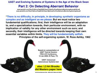 UAST and Evolving Systems of Systems in the Age of the Black Swan