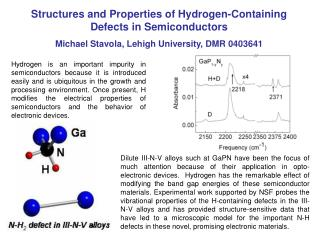Structures and Properties of Hydrogen-Containing Defects in Semiconductors