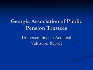 Georgia Association of Public Pension Trustees