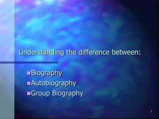 Understanding the difference between: