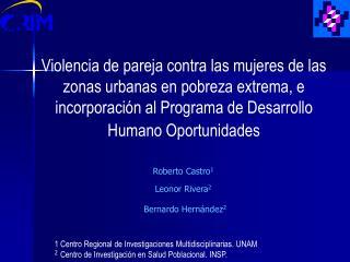 Violencia de pareja contra las mujeres de las zonas urbanas en pobreza extrema, e incorporaci n al Programa de Desarroll