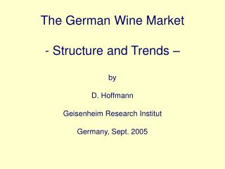 Germany: Consumption of Alcoholic Beverages
