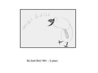 Bo Gark Bird 1991 – 3 years