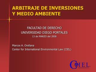 ARBITRAJE DE INVERSIONES  Y MEDIO AMBIENTE