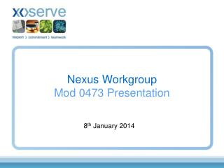 Nexus Workgroup Mod 0473 Presentation