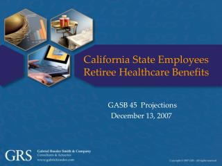California State Employees Retiree Healthcare Benefits