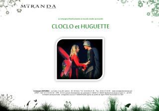 La compagnie Miranda propose sa nouvelle création jeune public CLOCLO et HUGUETTE