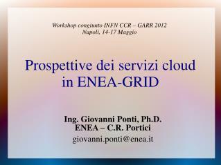Prospettive dei servizi cloud in ENEA-GRID