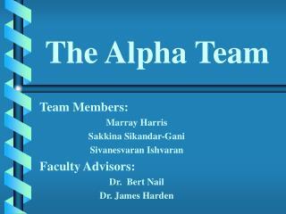 The Alpha Team