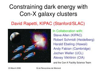 Constraining dark energy with Con-X galaxy clusters