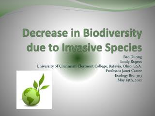 Decrease in Biodiversity due to Invasive Species
