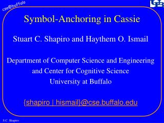 Symbol-Anchoring in Cassie