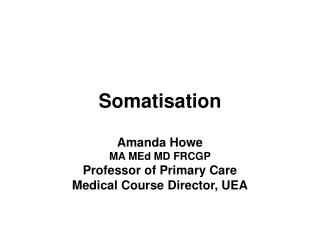 Somatisation