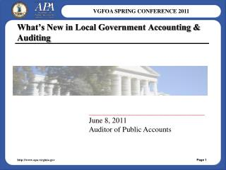 What's New in Local Government Accounting & Auditing