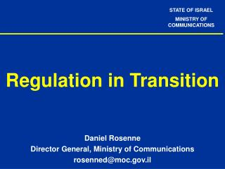 Regulation in Transition