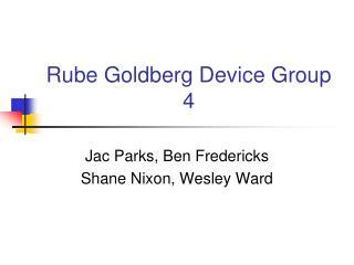 Rube Goldberg Device Group 4