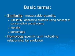 Basic terms: