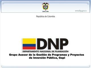 Grupo Asesor de la Gestión de Programas y Proyectos  de Inversión Pública, Gapi