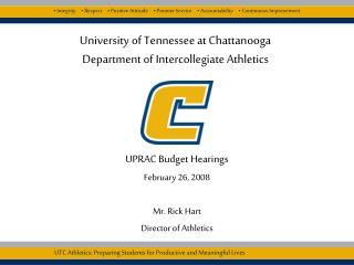 University of Tennessee at Chattanooga Department of Intercollegiate Athletics
